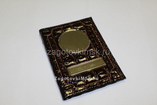 Кайман глянец эко кожа (темно коричневый)