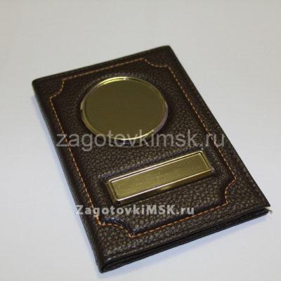 Флотер премиум эко кожа 2в1 (коричневый с паспортом)