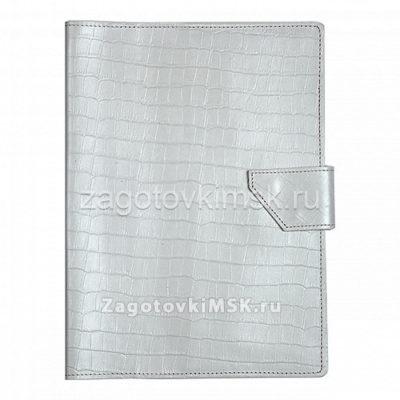 Папка для хранения семейных документов КРОКОДИЛ БЕЛАЯ (нат.кожа)
