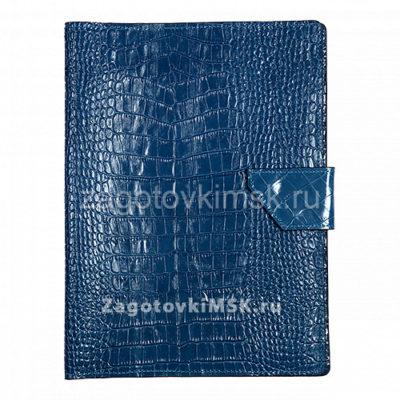 Папка для хранения семейных документов КРОКОДИЛ СИНЯЯ (нат.кожа)