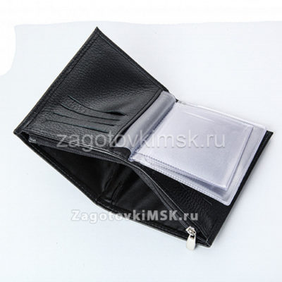 Обложка для документов + портмоне (нат. кожа флотер СВЕТЛО БИРЮЗОВЫЙ)