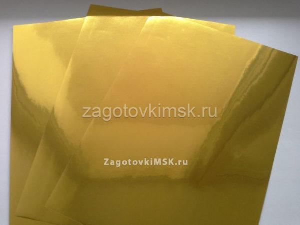 Плёнка золото (самоклейка) фон-не для печати 1 лист