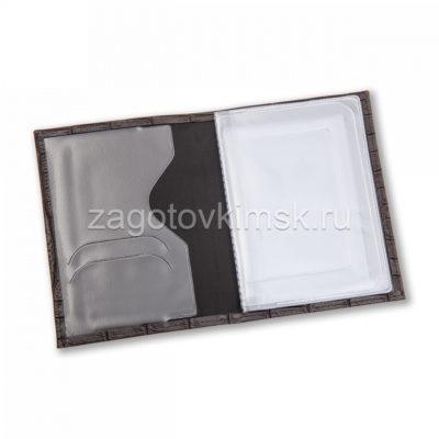 Обложка из эко кожи кайман цвет серый