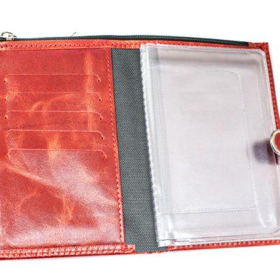 Обложка для автодокументов с портмоне — PullApp Красный